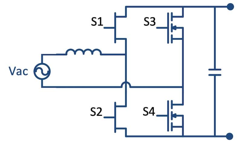 Bridgeless totem-pole PFC circuit.