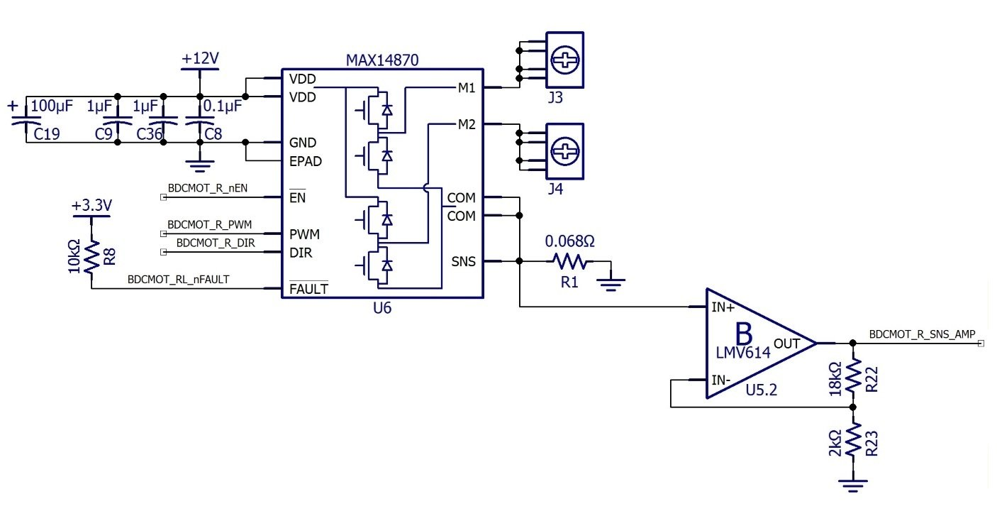 C Biscuit Schematic Design For The Rcbmicrocontroller Motor Pc Heat Monitor Circuit Piezoelectric Sensor Board Includes Two Of These Circuits Because Tri Track Chassis Has Tank Style Tracks With One Each