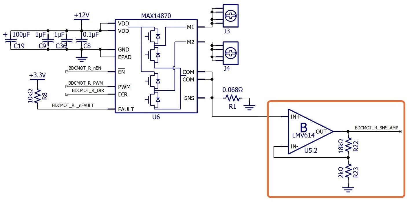 C Biscuit Schematic Design For The Rcbmicrocontroller Motor Current Amplifier Circuit This Data Could Even Be Transmitted To A Pc Via Wandboards Wi Fi Enable Real Time Remote Monitoring