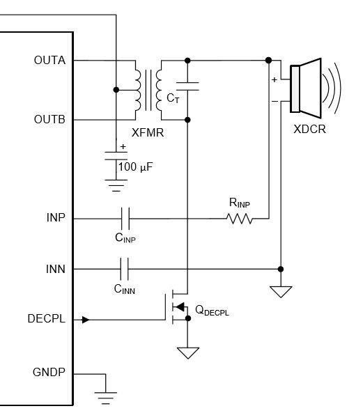 Ultrasonic transducer Driver circuit