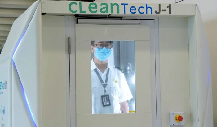 CLeanTech disinfectant booth