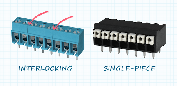 Interlocking vs. single-piece modules