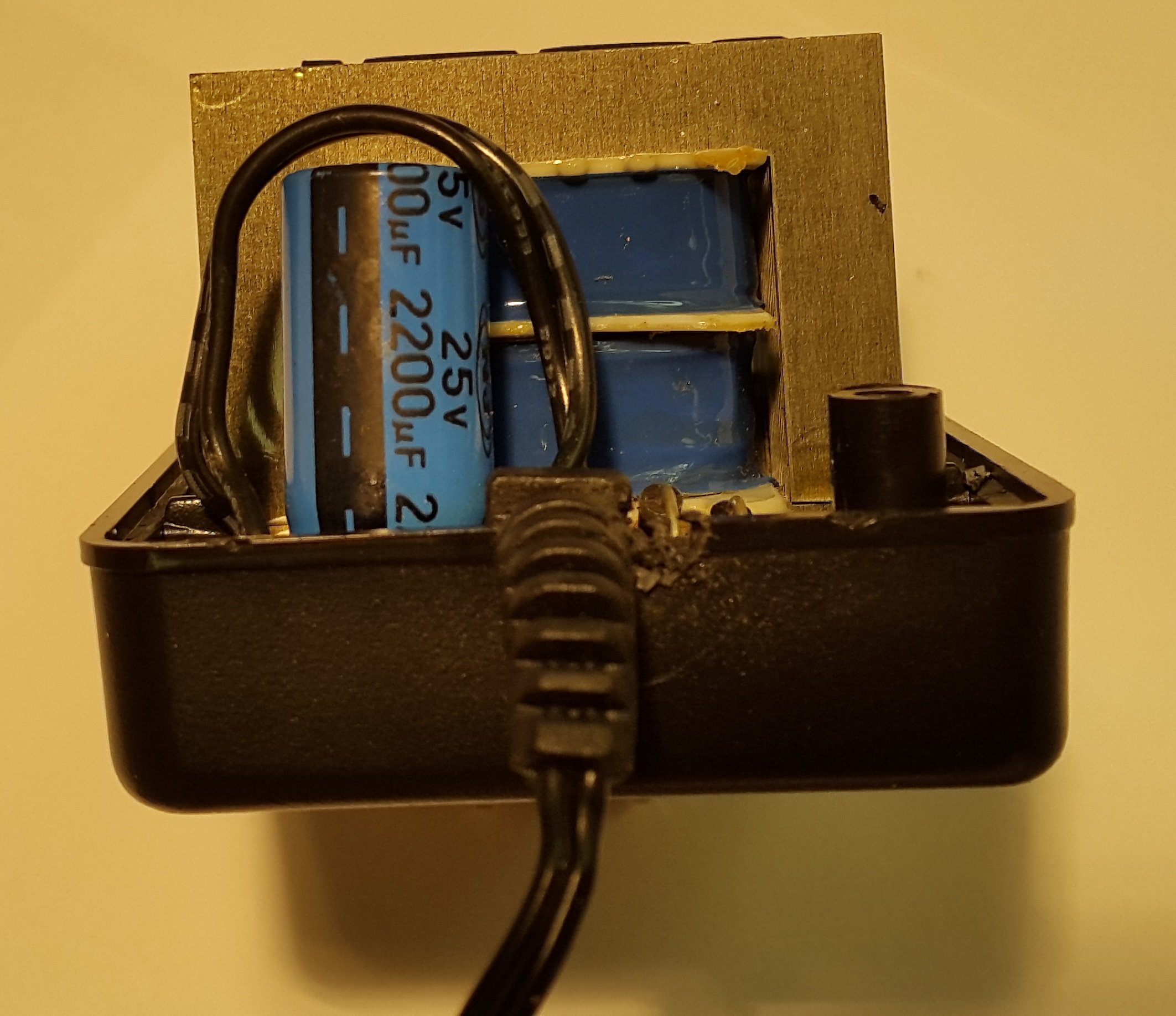 Capacitor in AC adaptor circuit.