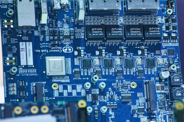 Circuit board from an embedded world trade fair activity in 2020