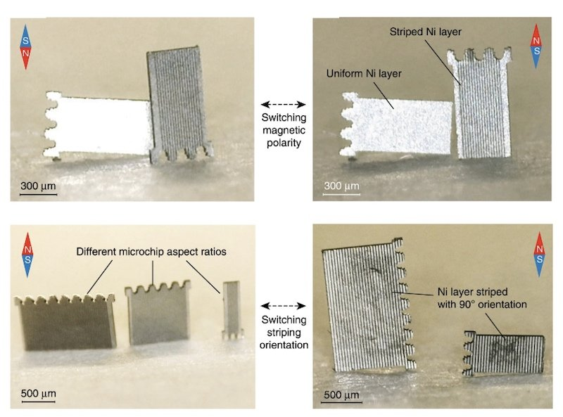 Controlled microchip lifting for magnetic assembly