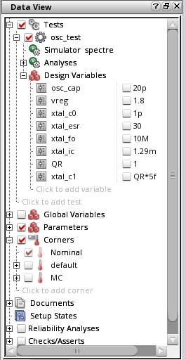 Simulation setup screenshot