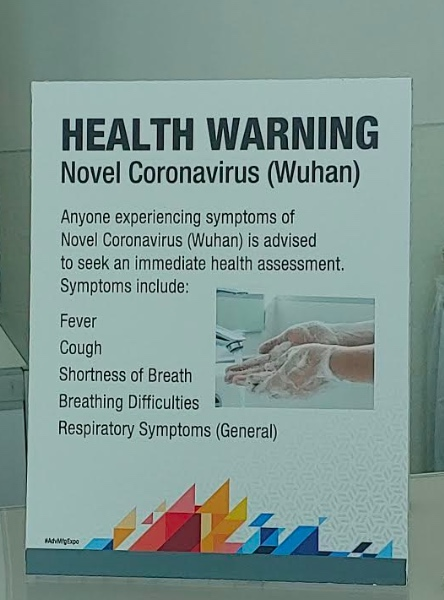 Coronavirus warning at AVX