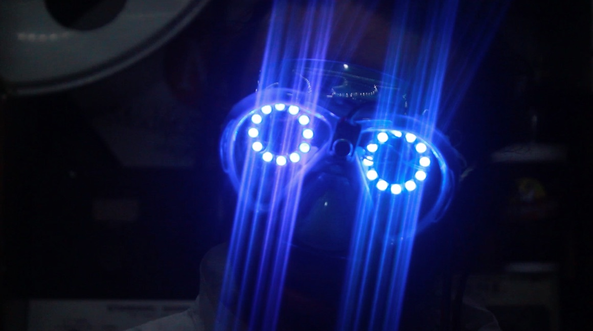 Maxim Integrated's Sound Activated NeoPixel Rave Goggles