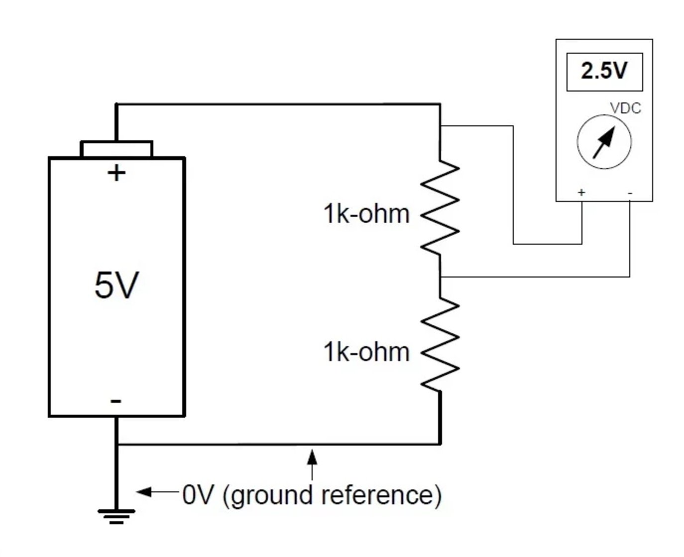 An Introduction To Ground Earth Common Analog Dc Circuits 009 Series And Parallel Resistive Circuit Comparisons For Instance If You Were Measure The Voltage Across Upper Resistor In A Divider Your Reference Point Would Not Be