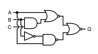The principles of DeMorgan's theorems to the simplification of a gate circuit.