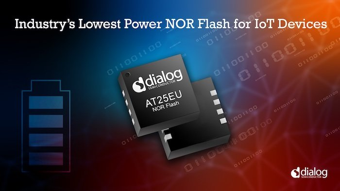 The new AT25EU NOR Flash is designed for low-power IoT devices.