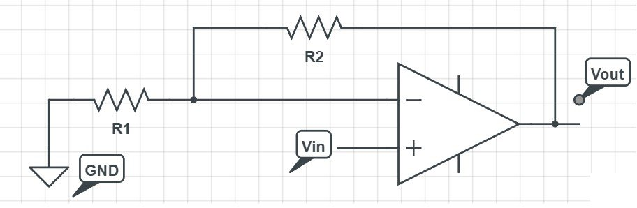 non-inverting voltage amplifier