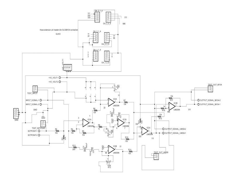 Analog PID schematic using Eagle software before voltage amplification