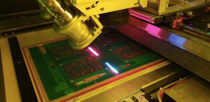 Direct imaging solder mask application
