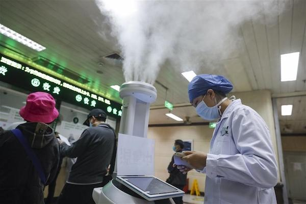Disinfection China Robot Hospital