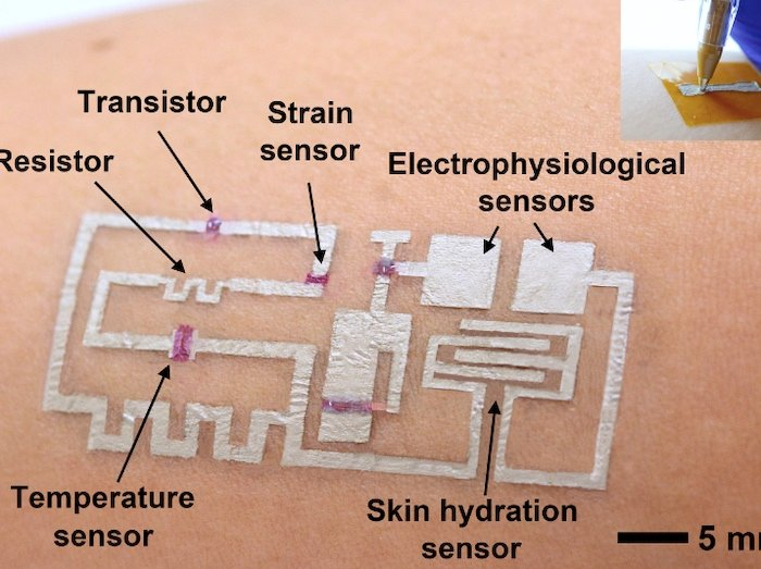 """Drawn-on-skin electronics"""