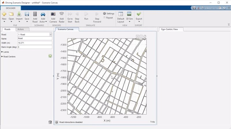 Automotive designers can generate drivingscenarios from road data