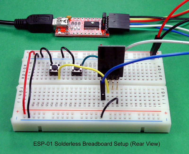 breadboard and program an esp circuit with the arduino ide, wiring diagram
