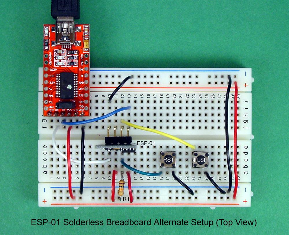 sabah arduino breadboard and program an esp 01 circuit with the