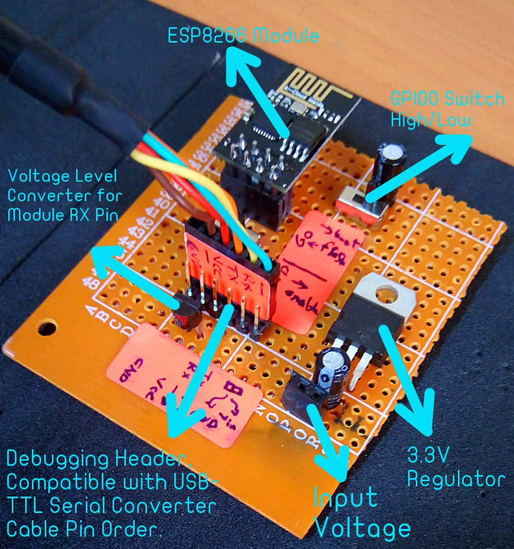 How To Build A Control Circuit With Adjustable Working Time Via Wi Fi Switch And Light Sensor Ldr Also Simple Relay Diagram Esp8266 Breakout Board
