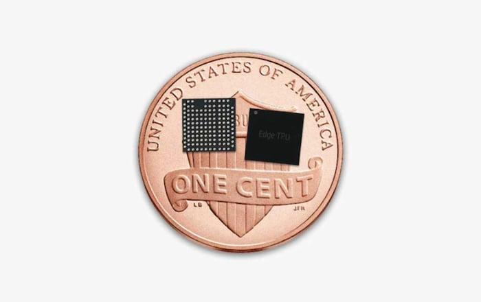 Edge TPU chips measure 5 mm x 5 mm