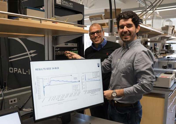 Morad Abdelaziz and Yuri Rodrigues from the University of British Columbia -  Okanagan Campus, the primary researchers that studied the impact of microgrid on the distribution of electrical power in power grids.