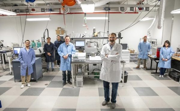 Evgeny Shafirovich, professor of mechanical engineering and his team of researchers.