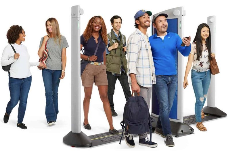 Evolve Express screens a number of people at once, discerning unrecognized visitors from recognized employees.