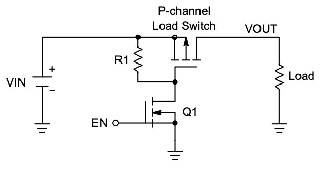 Example of a load switch circuit