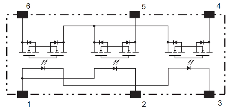 Example of photosensitive switching device