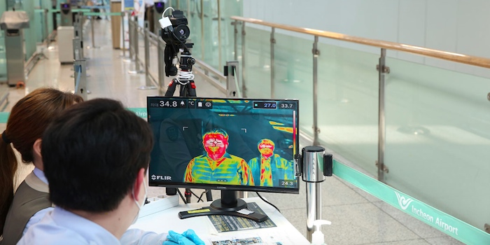 FLIR technology in use at the Incheon Airport in South Korea.