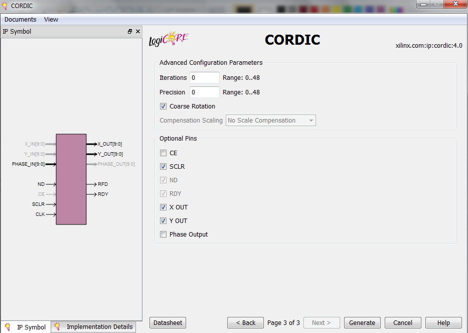 Use the Xilinx CORDIC Core to Easily Generate Sine and Cosine Functions