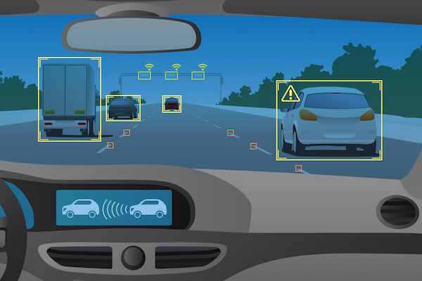Figure 1. Advanced Driver Assistance Systems are a primary safety feature in many new automobile models.