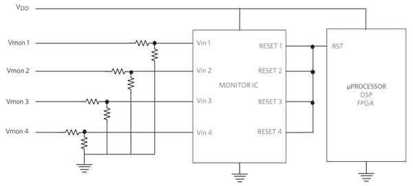 Figure 2. Typical Voltage Monitor IC Circuit