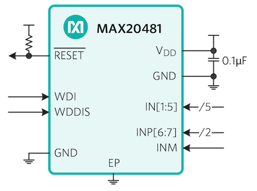 Figure 3. MAX20481 Automotive Power Monitor IC