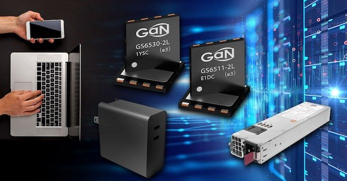 GaN System's transistors feature lower on-resistance and increased thermal performance compared to silicon or silicon carbide.