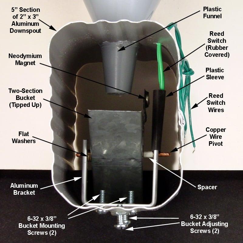 "Build a Wireless ""Tipping Bucket"" Rain Gauge, Part 2—Adding"