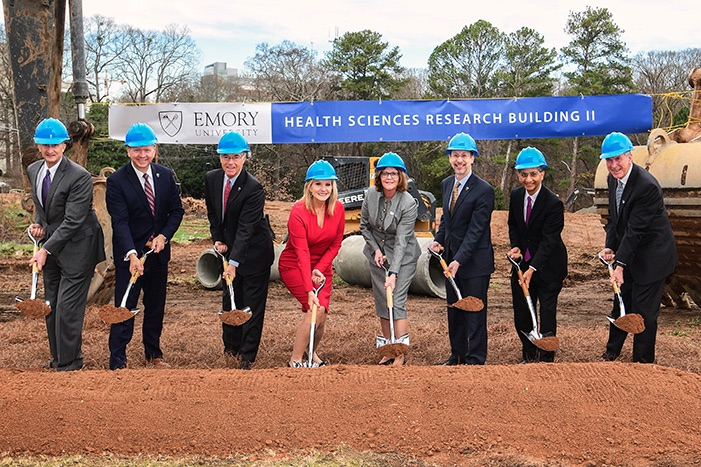 Ground-breaking ceremony of the Health Sciences Research Building