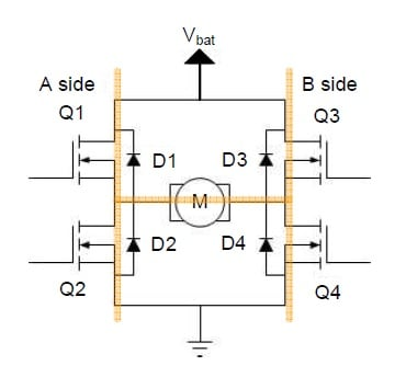 circuit diagram of an h-bridge