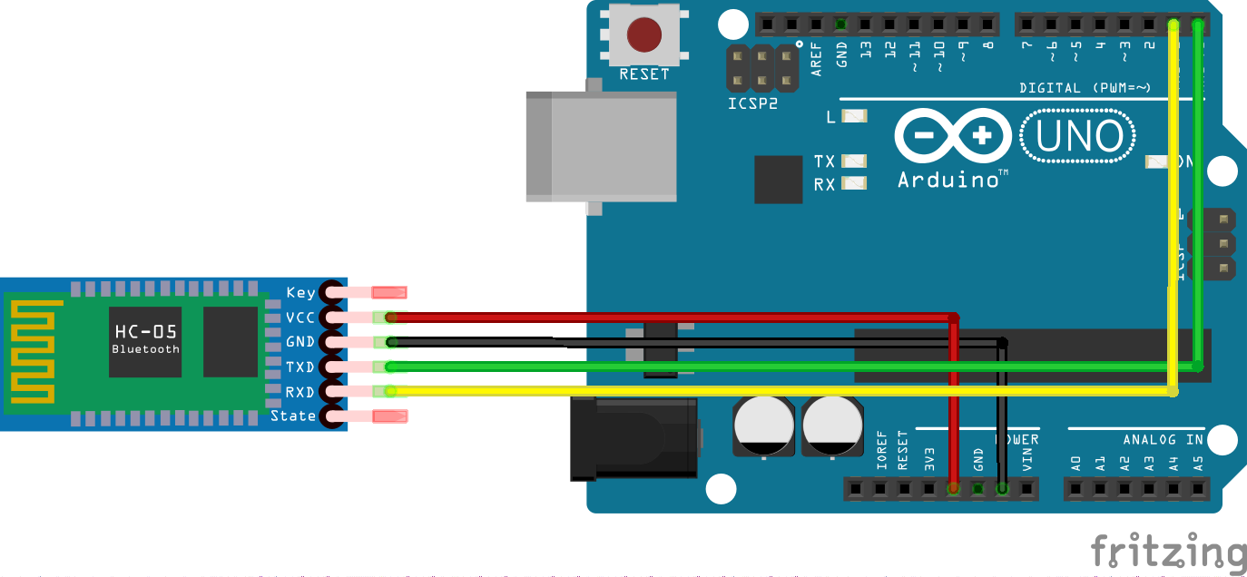 Control an arduino with bluetooth
