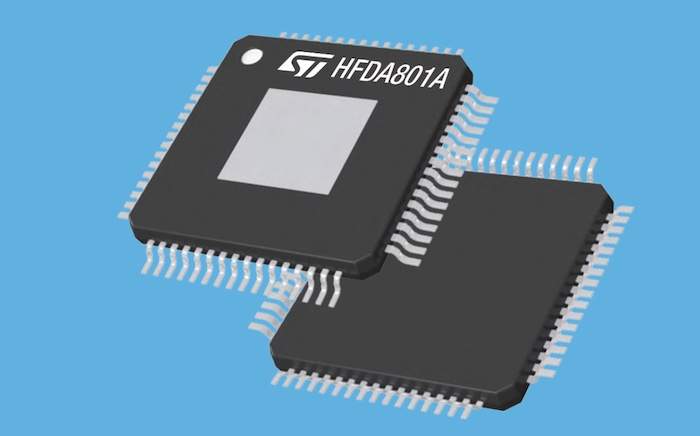 The HFDA801A amplifier from STMicroelectronics.
