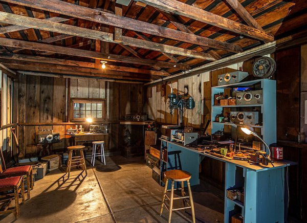 The famed Hewlett-Packard garage remains today as a National Historic Property in Palo Alto, California.