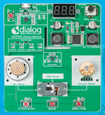 HVPAK demo board with SLG47105.