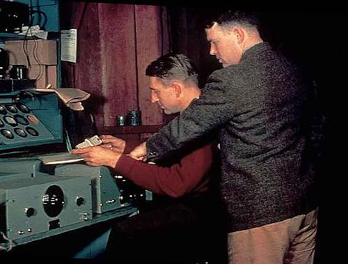 An early image of Bill Hewlett and David Packard.