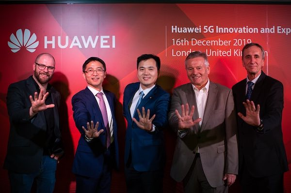 Executives from Telecom.com and Huawei at the opening event for the London Huawei 5G Innovation & Experience Center.
