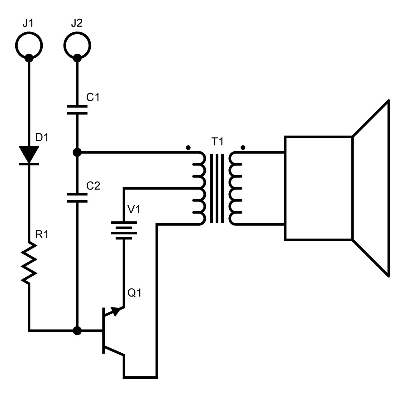 Inspecting Electronic Circuits With An Audible Circuit Probe Simple Signal Generator For Tracing Diagram This Is A Single Swing Blocking Oscillator Used To Create Narrow Timing Pulses