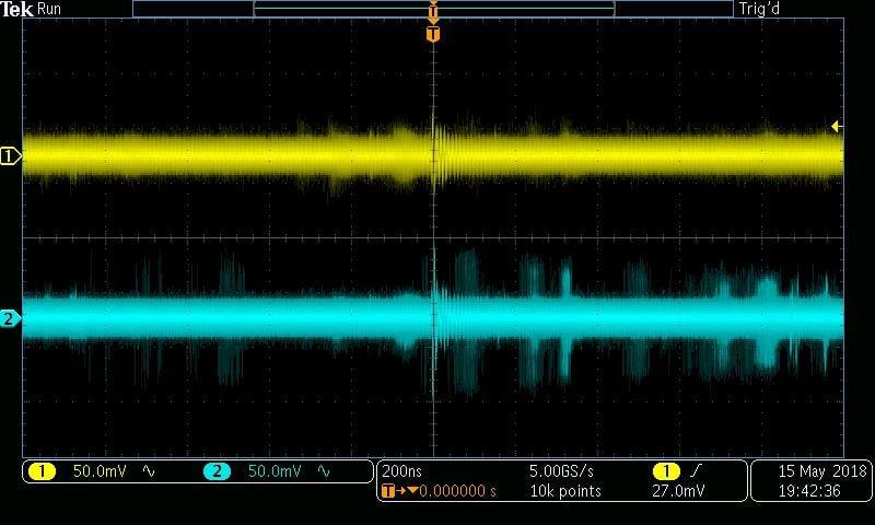 ±5 V, 470 Ω, burst mode