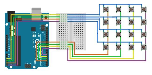 how to connect simple keypad to arduino