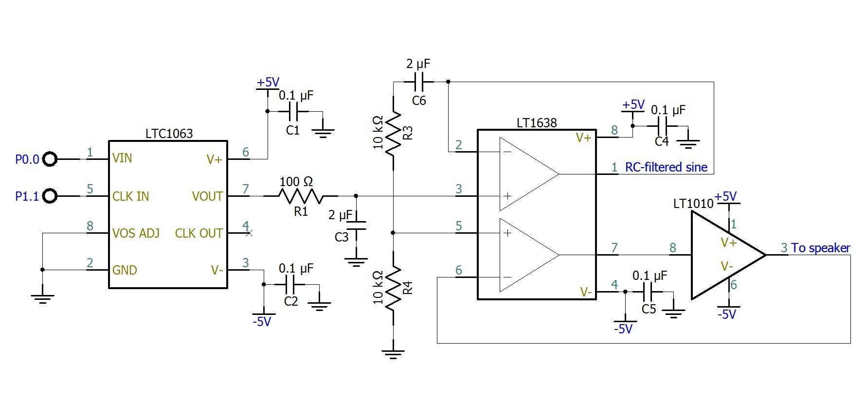 Efm8 Sound Synthesizer Driving The Speaker Wiring Diagram Here Is Entire Schematic For This Project