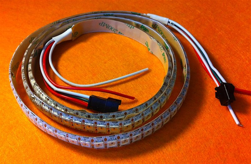 LED strip for the blade
